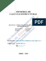 MemoriaCalculo Estruct_INSPECTRA2012