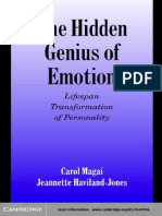 The Hidden Genius of Emotion Lifespan Transformations of Personality (Studies in Emotion and Social Interaction)