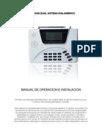 Manual en Español Alarma Gsm Pstn