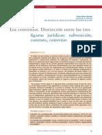 Diferencia Entre Convenio y Contrato