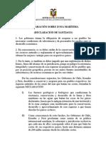 Declaración sobre Zona Marítima - Declaración de Santiago