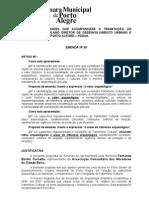 Emenda nº 30 Fernanda Tochetto Cidade Baixa