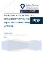 upgrading medical practice management system for equal access clinic based on openemr