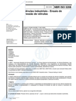 NBR 05208 - Valvulas Industriais - Ensaio De Pressao De Valvulas.pdf