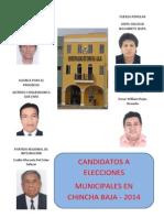 Candidatos a La Alcadía en El Distrito de Chincha Baja