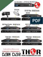 1ASI-DVB Encoder Modulators