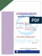 PEL Internship Report (Power Division , Switch-gear,Unit 1)