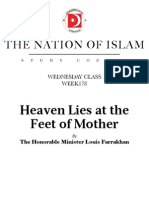 Heaven Lies at the Feet of Mother