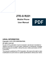 ZTE R221 User Manual