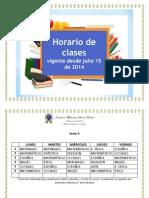 Horarios Nuevos - Julio 2014