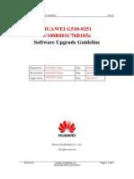 HUAWEI G510-0251 V100R001C76B185a Upgrade Guideline