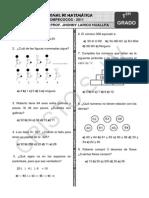 Examen Ejercicios Matemática Octubre