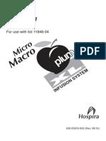 Hospira Micro Macro IV Pump