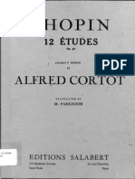 Chopin Etudes Op. 10, Cortot Edition (English)