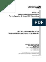 Rosemount Hart Comm 275 ConfigManual