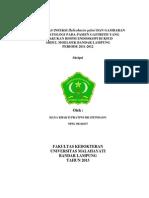 Positivitas Infeksi Helicobacter Pylori Dan Gambaran Histopatologi Pada Pasien Gastritis Yang Dil