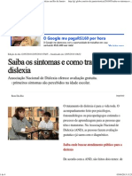 G1 - Saiba Os Sintomas e Como Tratar a Dislexia - Notícias Em Rio de Janeiro