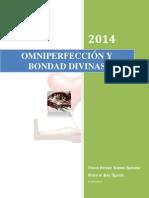 Omniperfección y Bondad Divinas