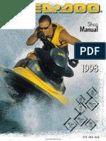 1998 sea doo service manual 2 carburetor motor oil rh scribd com 1998 Sea-Doo GTI Yellow 1998 Seadoo RX