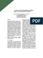 05. JISBD 10 - Usabilidad en El Desarrollo Web Dirigido Por Modelos Resultados de Un Experimento Controlado