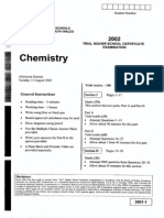 2002 CSSA Chemistry QUestions Past Trial