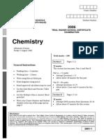 Chemistry CSSA Trial 2006