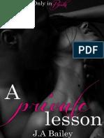 A Private Lesson de J. a. Bailey