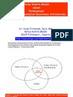 DF- AMRIN 7 Nov 2008 Program Pengendalian Resistensi Antimikroba di RS