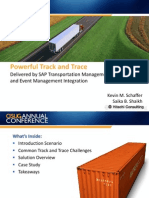 Track and Trace Delivered by SAP Transportation Management and Event Management Integration