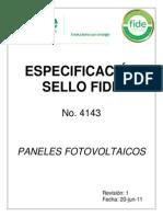 Especificacion Sello Fide 4143