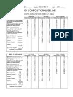 Body Composition Guideline Men