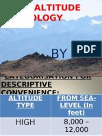 High Altitude Physiology