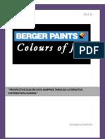 Berger Paints SIP Report