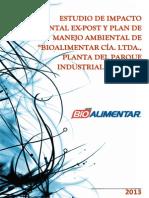 Esia y Pma Bioalimentar Parque Industrial