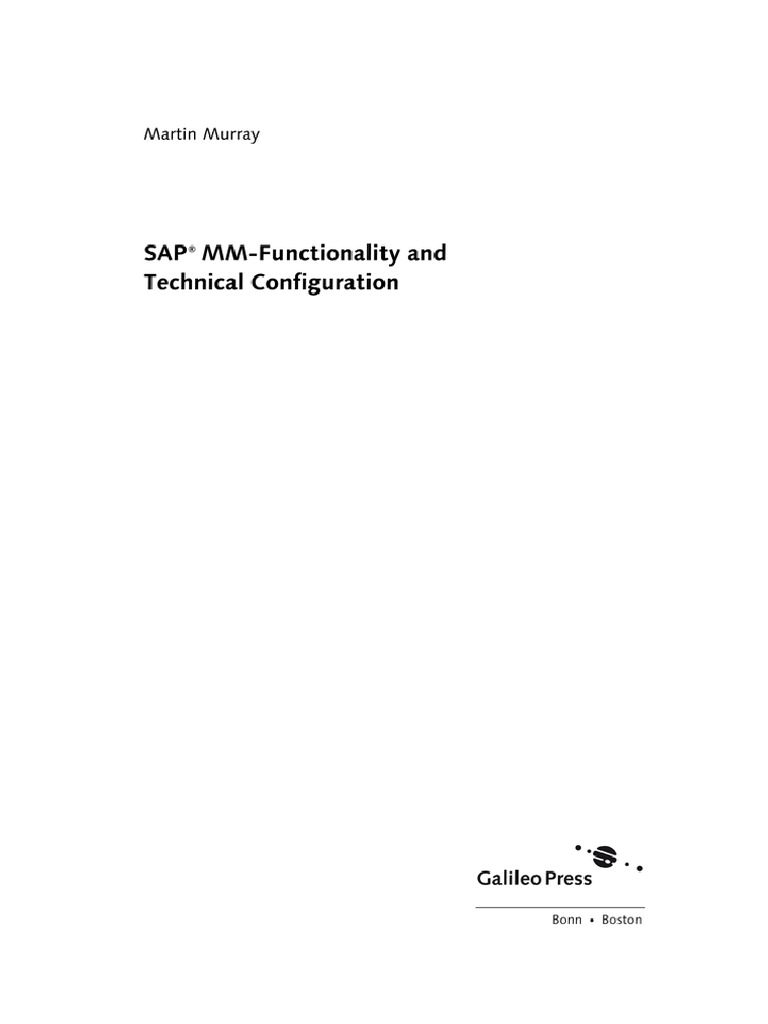 SAP MM Functionality and Technical Configuration 2 pdf