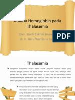Analisa Hemoglobin Pada Thalasemia