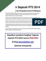 Pengenalan Isu Perpaduan Kaum Tugasan Sejarah PT3 2014