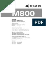 PEGASUS Instrction Manual M800