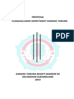 Proposal Pembangunan Skretariat Karang Taruna Bhakti Mandiri 02