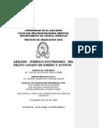 Análisis Jurídico-doctrinario Del Delito Lavado de Dinero y Activos