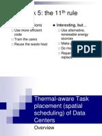 Thermal AwareJobSchedulingAlgorithms
