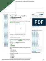 Computer Awareness Quiz 61 – Computer Knowledge _ Banking Awareness