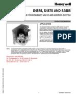 Automate de Aprindere Honeywell S 4565 S4575 S4585 - Pliant Date Tehnice