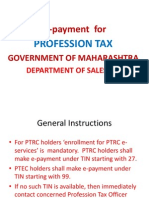 How to Pay Profession Tax Online