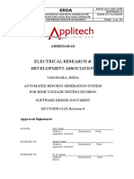 Automated Reports Generation System for High Voltage Division Software Design