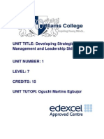 Assessment Brief Developing Strategic Management and LeadershipSkills 11 March 2013 (2)