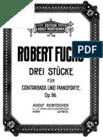 Drei Stucke fur Contrabass - R. Fuchs