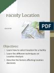 Facility Location Wk4