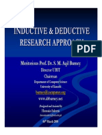 Inductive & Deductive Research Approach