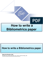 How to Write a Bibliometrics Paper, By Nader Ale Ebrahim